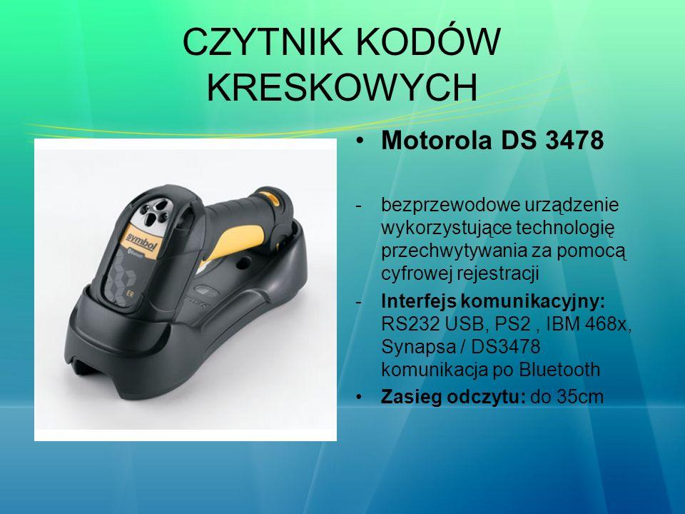 CZYTNIK KODÓW KRESKOWYCH Motorola DS 3478 -bezprzewodowe urządzenie wykorzystujące technologię przechwytywania za pomocą cyfrowej rejestracji -Interfe
