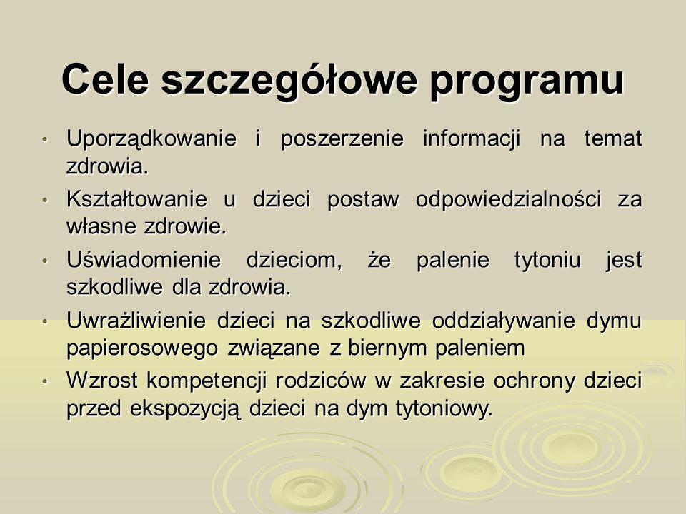 Cele szczegółowe programu Uporządkowanie i poszerzenie informacji na temat zdrowia. Uporządkowanie i poszerzenie informacji na temat zdrowia. Kształto