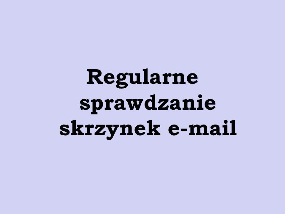 Regularne sprawdzanie skrzynek e-mail