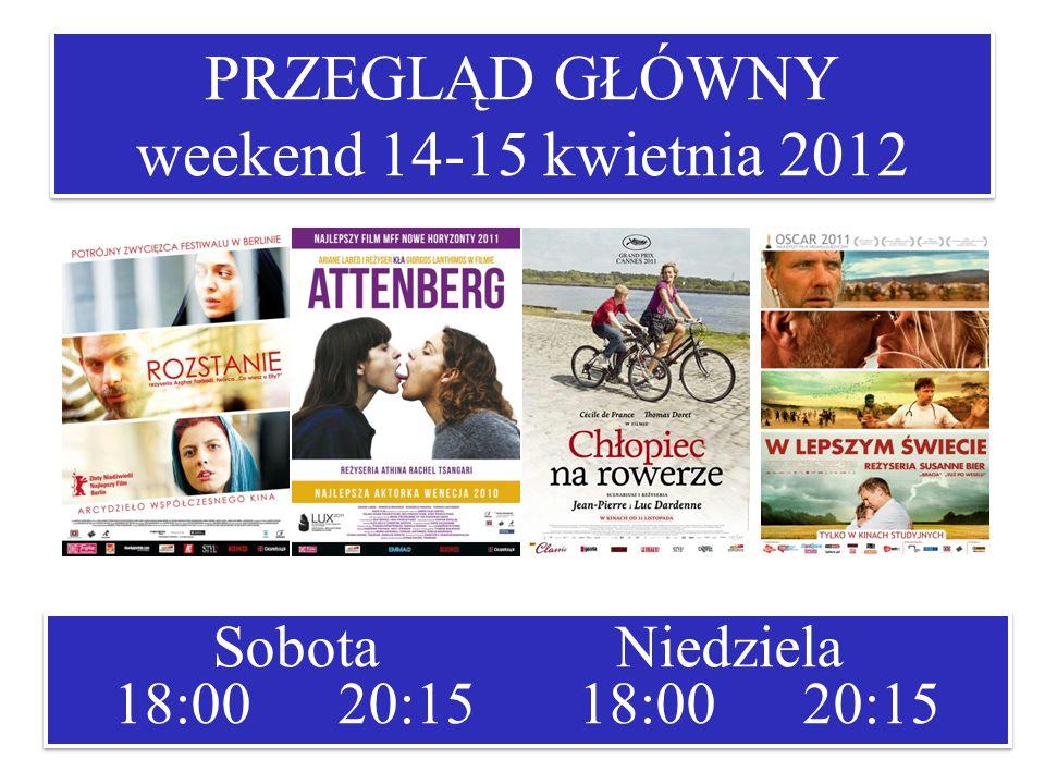 PRZEGLĄD GŁÓWNY weekend 14-15 kwietnia 2012 Sobota Niedziela 18:00 20:15 18:00 20:15