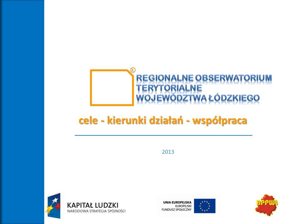 2013 cele - kierunki działań - współpraca
