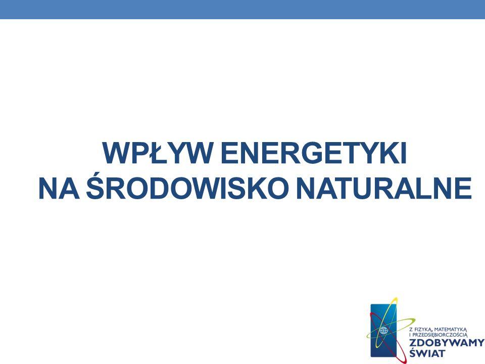WPŁYW ENERGETYKI NA ŚRODOWISKO NATURALNE