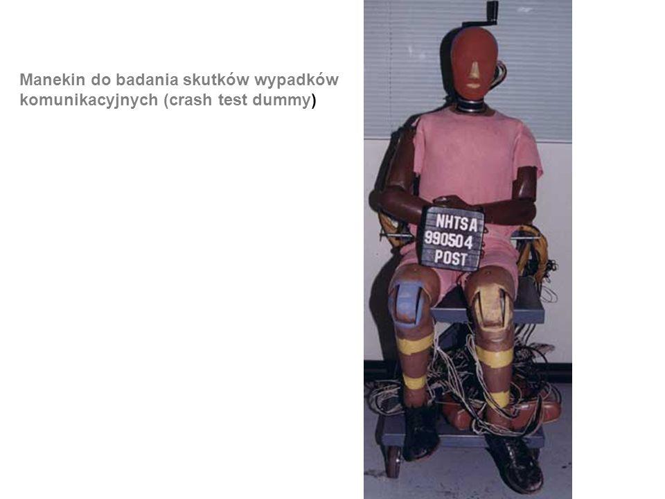 Manekin do badania skutków wypadków komunikacyjnych (crash test dummy)