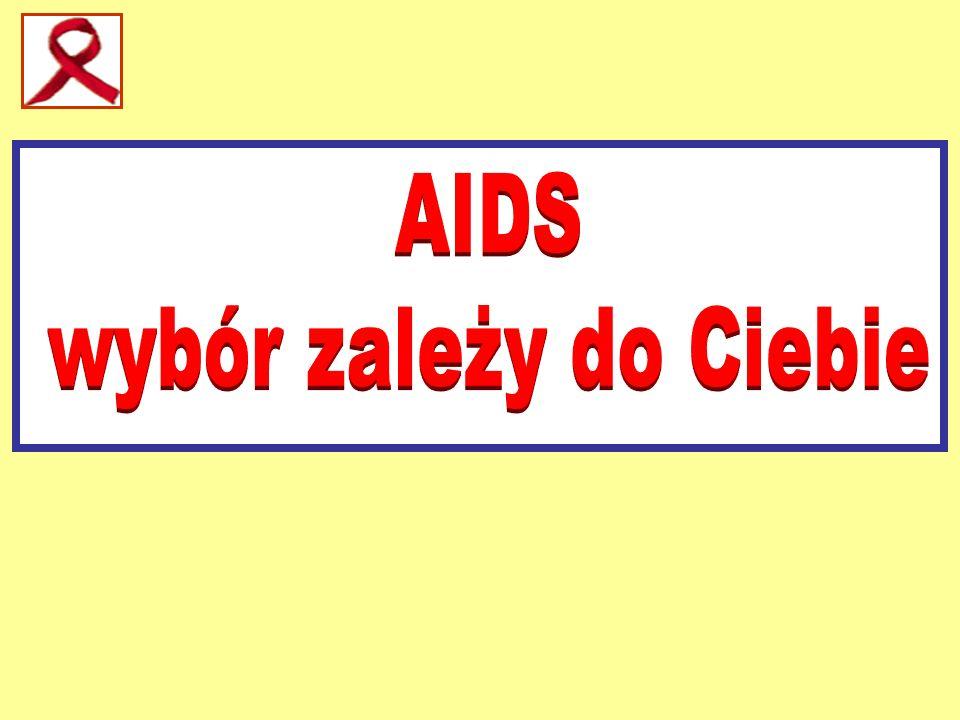 WRAŻLIWOŚC HIV NA CZYNNIKI FIZYCZNE I CHEMICZNE Środki chemiczne Rozcieńczenie Czas potrzebny do zabicia HIV Do dezynfekcji skóry alkohol etylowy · woda utleniona · betadine 70% 70% · 6% · bez rozcieńczania · 1-4 minuty · 3 minuty · 15 minut Do dezynfekcji powierzchni i przedmio- tów preparaty zawierające chlor, jak Bielinka , Ace , Javel , Domestos i inne dostępne w sprzedaźy · bez rozcieńczania · 15 minut Gotowanie zabija HIV.