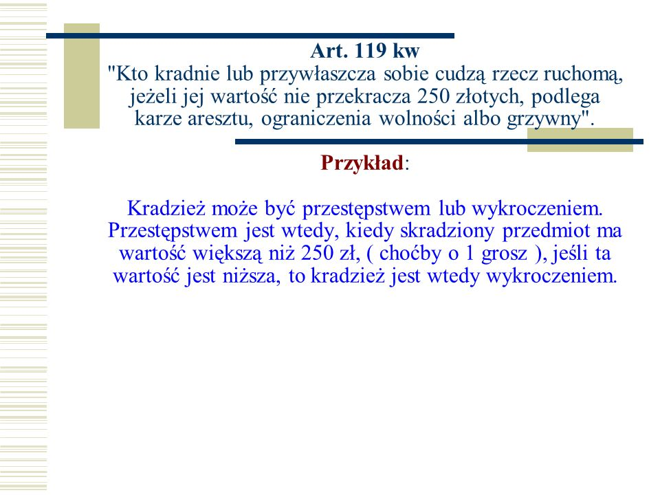 Art. 119 kw