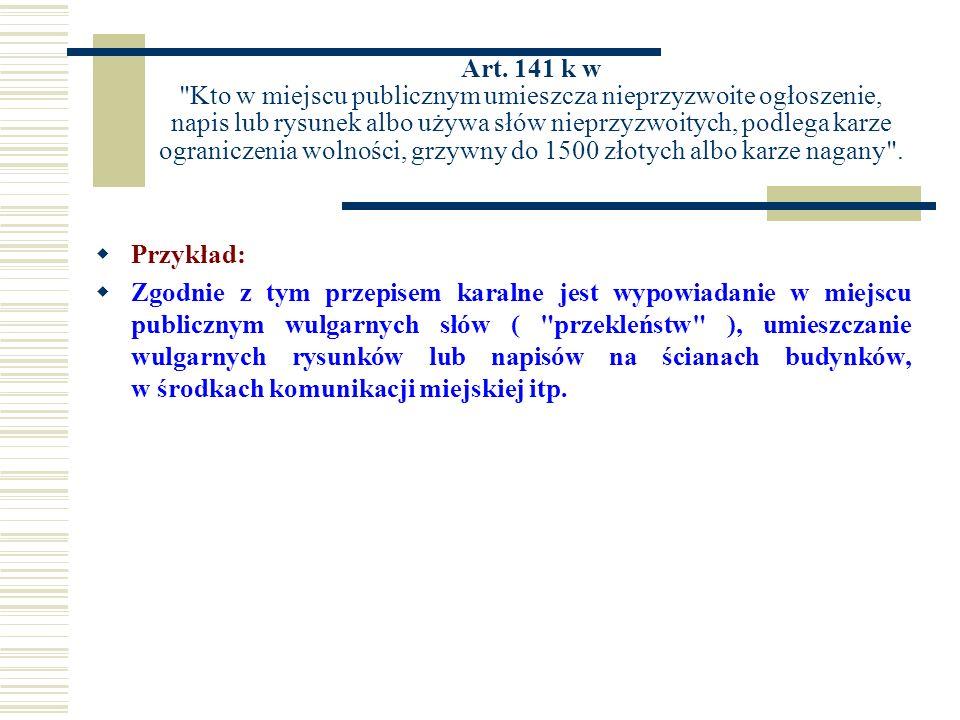Art. 141 k w