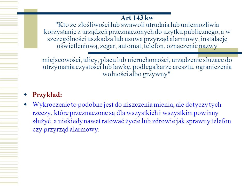 Art 143 kw