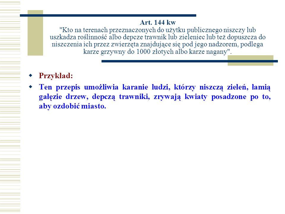 Art. 144 kw