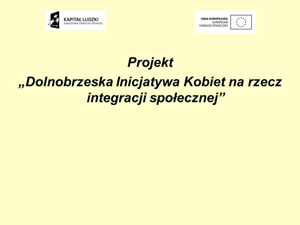 Projekt Dolnobrzeska Inicjatywa Kobiet na rzecz integracji społecznej