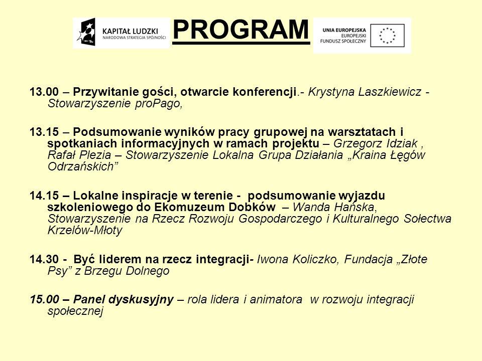 Podsumowanie wyników pracy grupowej na warsztatach i spotkaniach informacyjnych w ramach projektu Projekt pn Dolnobrzeska Inicjatywa Kobiet na rzecz integracji społecznej realizowany przez Stowarzyszenie Integracji Społecznej ProPago, w partnerstwie z Stowarzyszeniem na Rzecz Rozwoju Gospodarczego i Kulturalnego Sołectwa Krzelów-Młoty oraz Stowarzyszenia Lokalna Grupa Działania Kraina Łęgów Odrzańskich dzięki wsparciu Unii Europejskiej w ramach Europejskiego Funduszu Społecznego, priorytet VII, działanie 7.3 Inicjatywy Lokalne na rzecz aktywnej integracji