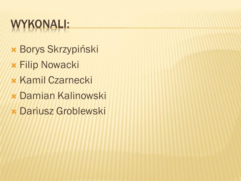 Borys Skrzypiński Filip Nowacki Kamil Czarnecki Damian Kalinowski Dariusz Groblewski