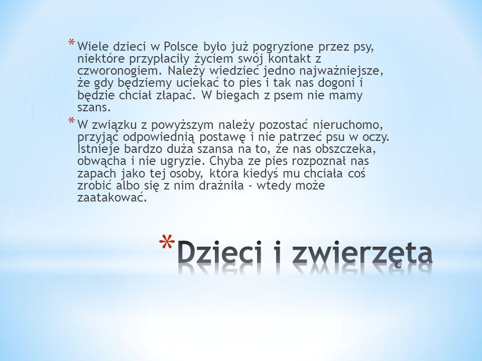 * Wiele dzieci w Polsce było już pogryzione przez psy, niektóre przypłaciły życiem swój kontakt z czworonogiem.