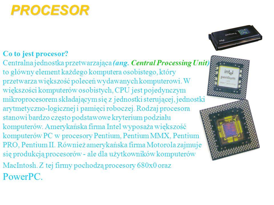 Co to jest procesor? Centralna jednostka przetwarzająca (ang. Central Processing Unit) to główny element każdego komputera osobistego, który przetwarz