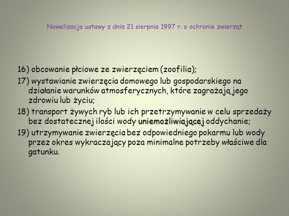 Nowelizacja ustawy z dnia 21 sierpnia 1997 r.