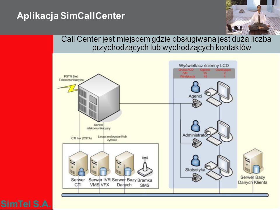 SimTel S.A. Aplikacja SimCallCenter Call Center jest miejscem gdzie obsługiwana jest duża liczba przychodzących lub wychodzących kontaktów