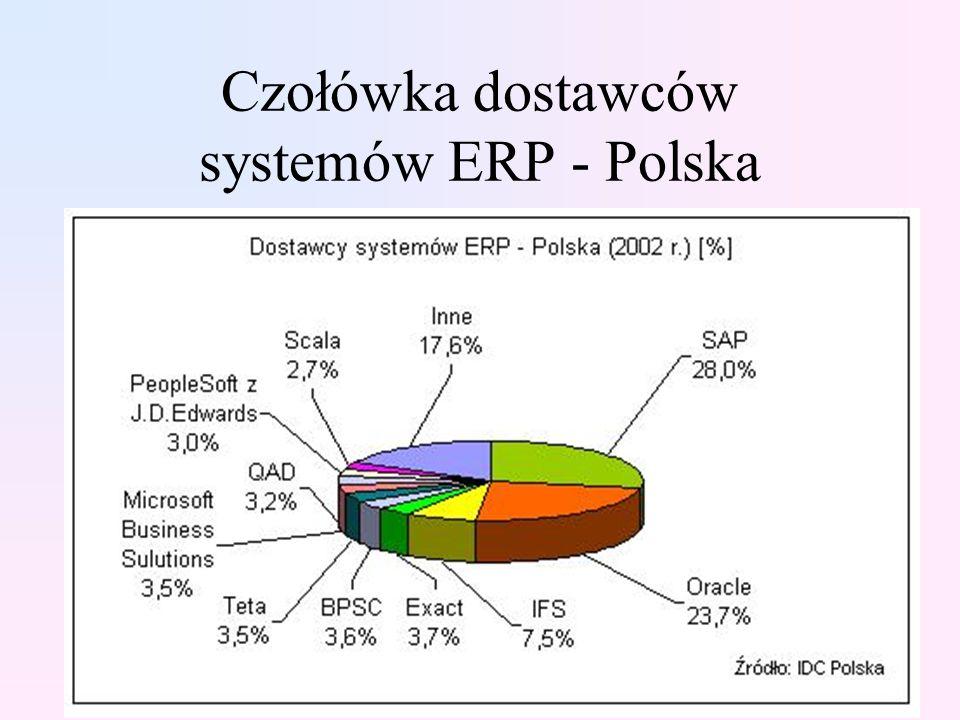 Czołówka dostawców systemów ERP - Polska