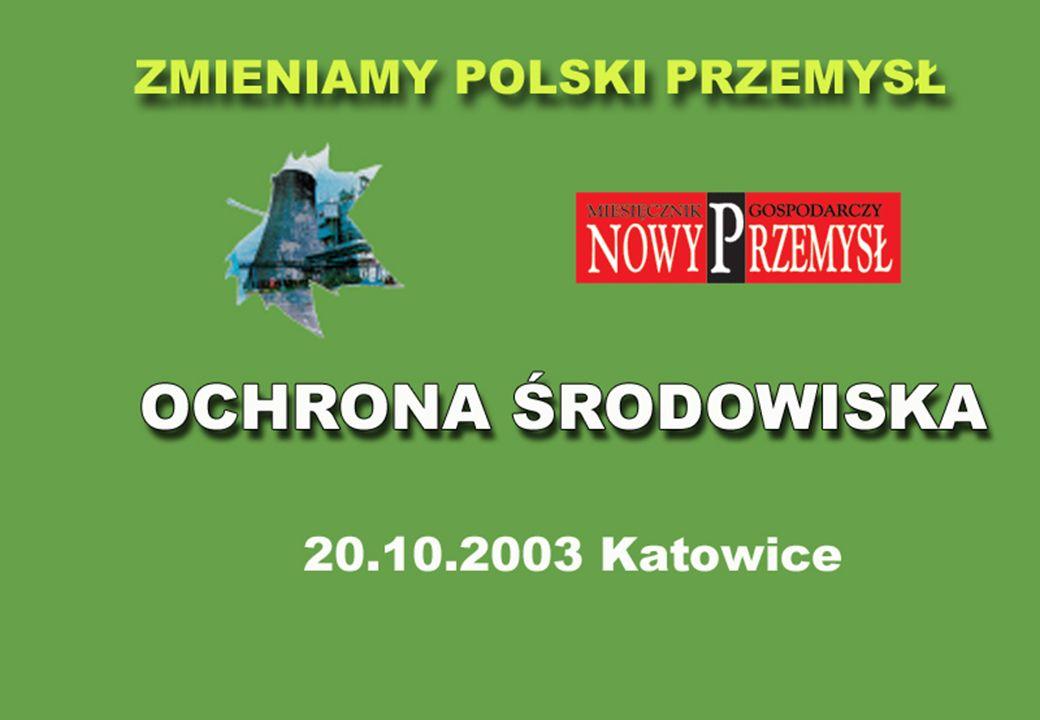 Pozwolenia zintegrowane dla instalacji przemysłowych - praktyczne problemy wdrażania dyrektywy IPPC w Polsce Ochrona środowiska – zrównoważony rozwój, szanse i zagrożenia w przededniu integracji z Unią Europejską Katowice, 20 października 2003 r.