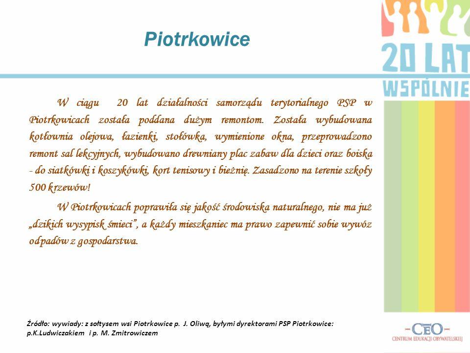 W ciągu 20 lat działalności samorządu terytorialnego PSP w Piotrkowicach została poddana dużym remontom.