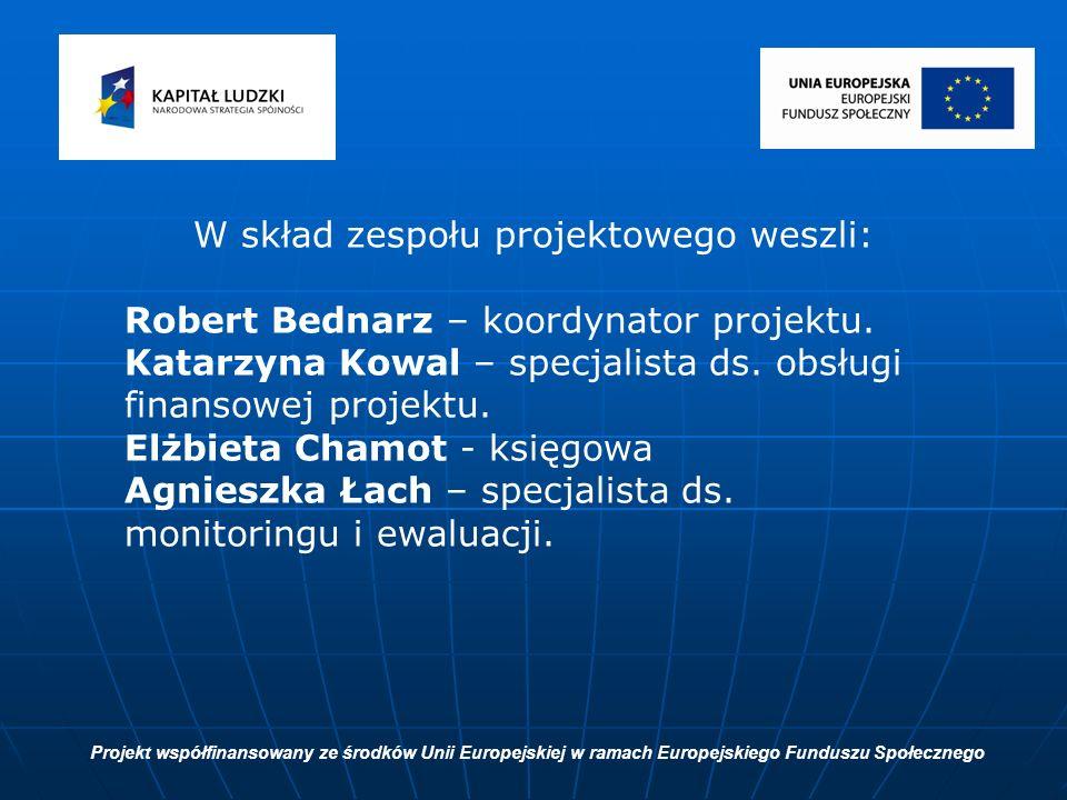 W skład zespołu projektowego weszli: Robert Bednarz – koordynator projektu.