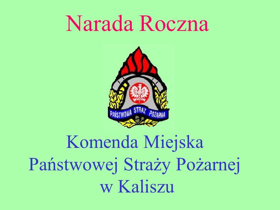 Narada Roczna Komenda Miejska Państwowej Straży Pożarnej w Kaliszu