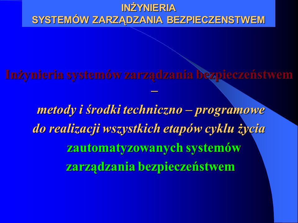 Inżynieria systemów zarządzania bezpieczeństwem – metody i środki techniczno – programowe metody i środki techniczno – programowe do realizacji wszyst