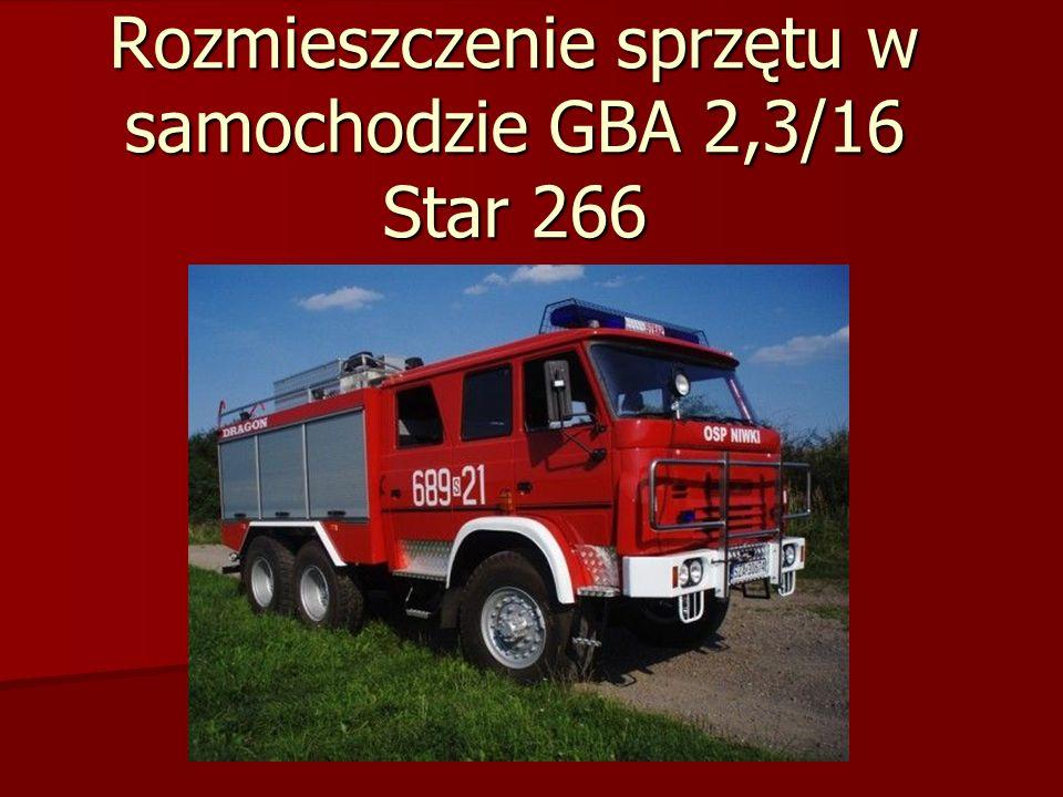 Rozmieszczenie sprzętu w samochodzie GBA 2,5/16 Star 244