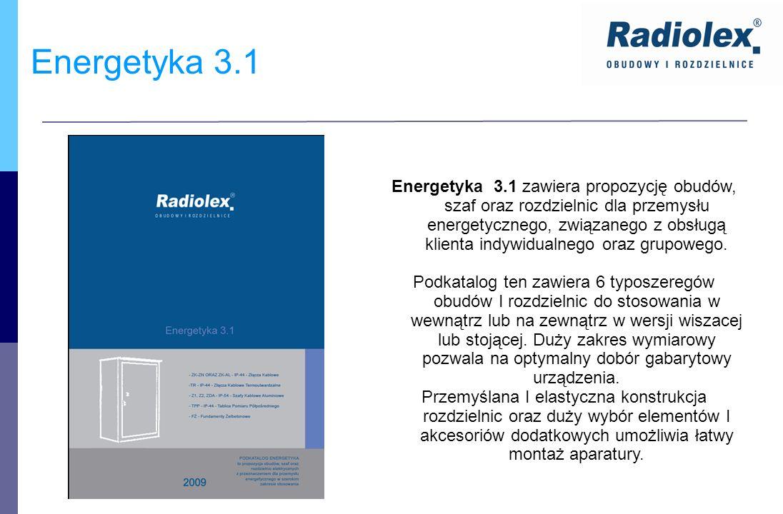 Energetyka 3.1 Energetyka 3.1 zawiera propozycję obudów, szaf oraz rozdzielnic dla przemysłu energetycznego, związanego z obsługą klienta indywidualne