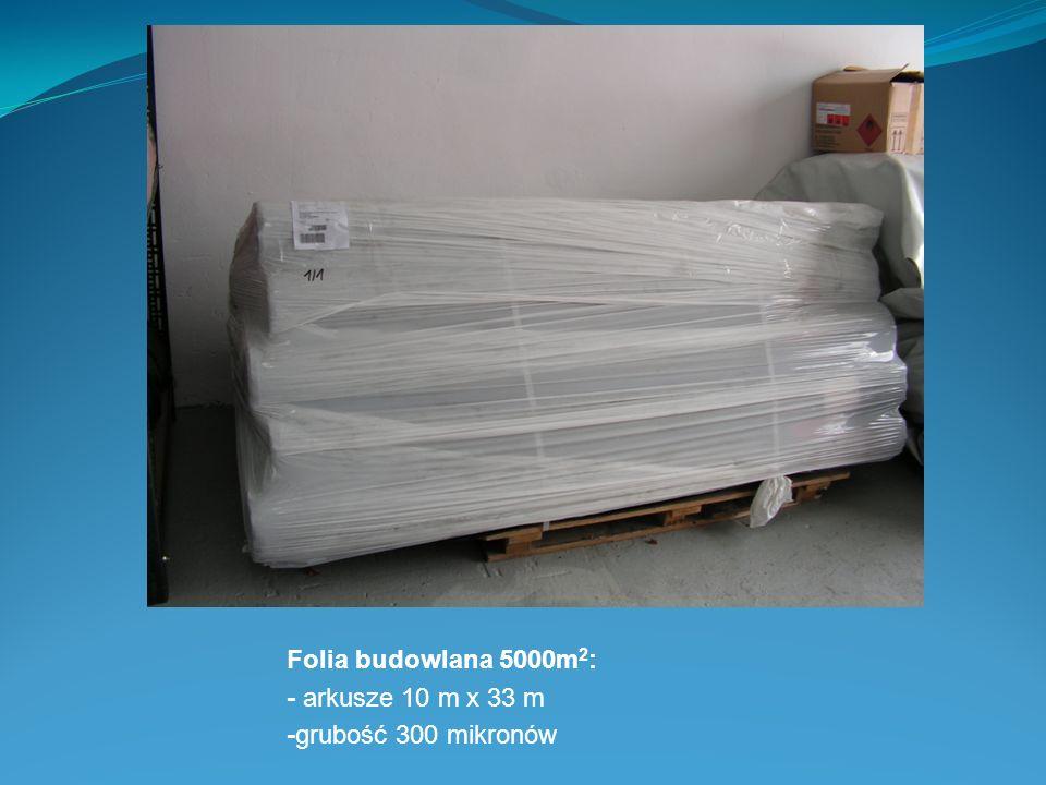 Folia budowlana 5000m 2 : - arkusze 10 m x 33 m -grubość 300 mikronów