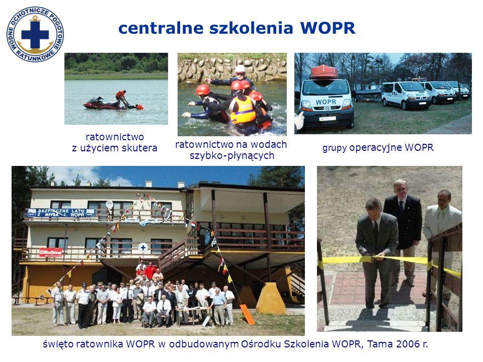 święto ratownika WOPR w odbudowanym Ośrodku Szkolenia WOPR, Tama 2006 r. grupy operacyjne WOPR ratownictwo na wodach szybko-płynących ratownictwo z uż