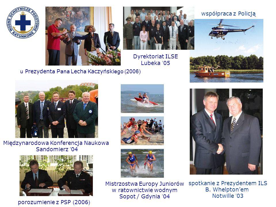 porozumienie z PSP ( 2006 ) Dyrektoriat ILSE Lubeka 05 Mistrzostwa Europy Juniorów w ratownictwie wodnym Sopot / Gdynia 04 u Prezydent a Pana Lech a K