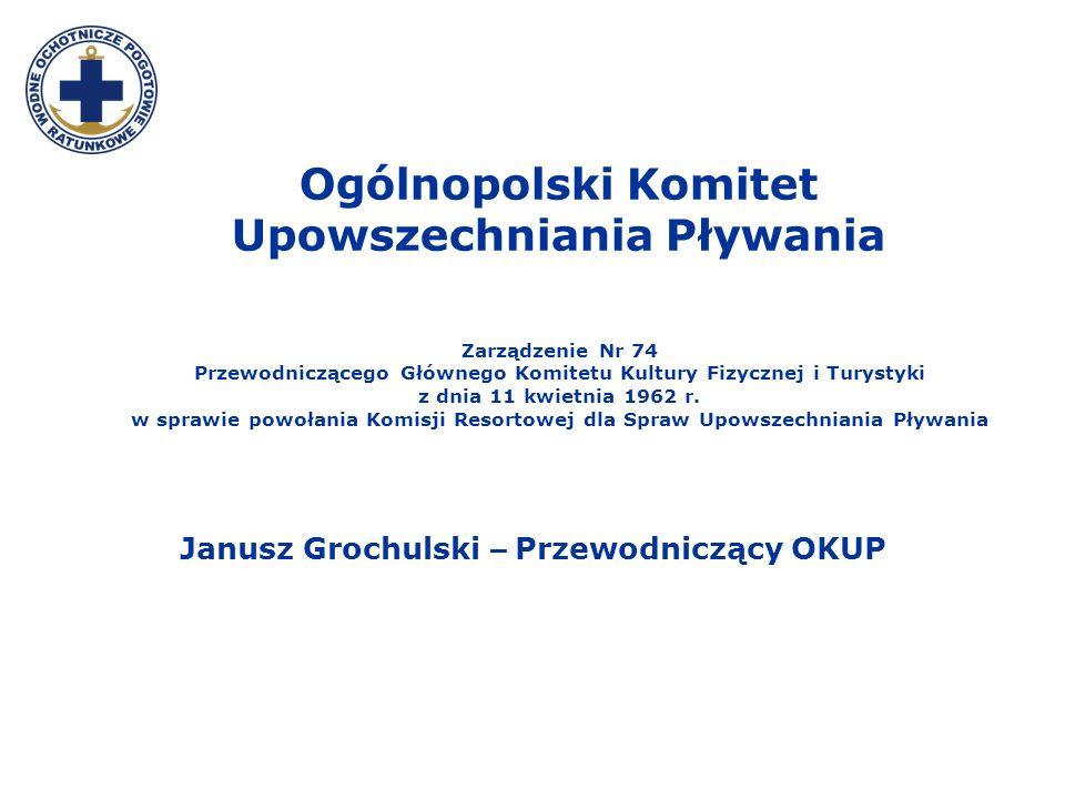 Ogólnopolski Komitet Upowszechniania Pływania Zarządzenie Nr 74 Przewodniczącego Głównego Komitetu Kultury Fizycznej i Turystyki z dnia 11 kwietnia 19