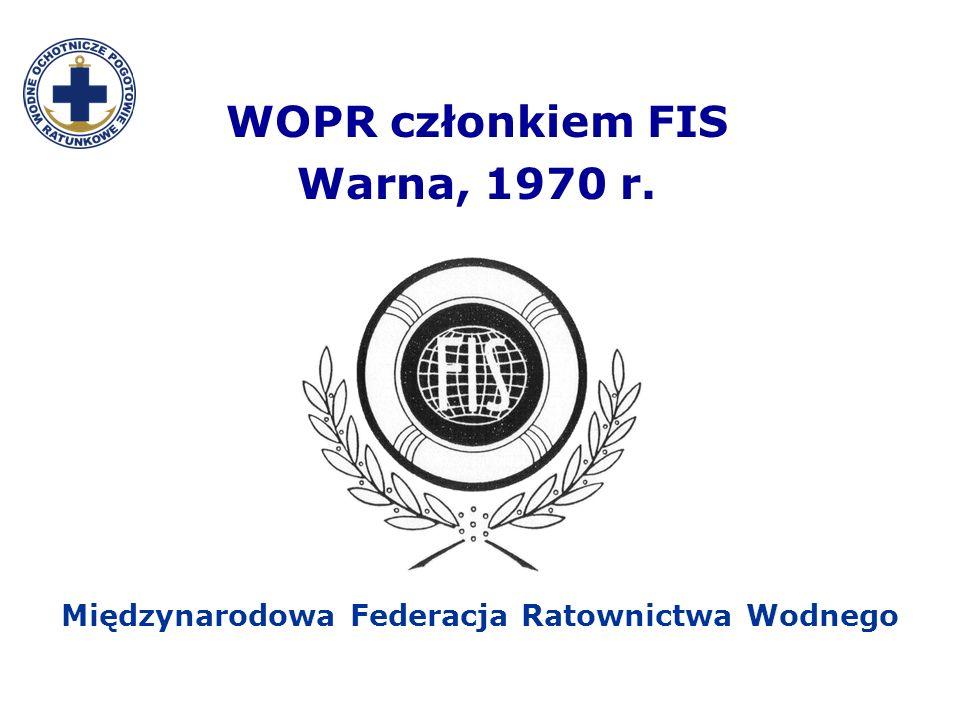 WOPR członkiem FIS Warna, 1970 r. Międzynarodowa Federacja Ratownictwa Wodnego