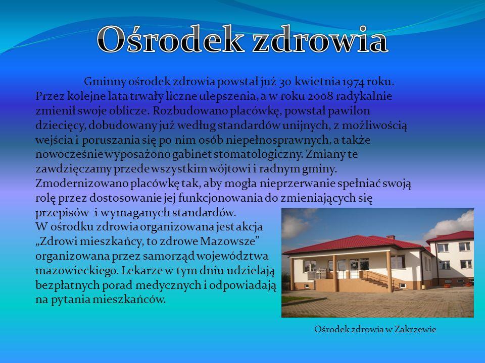 Gminny ośrodek zdrowia powstał już 30 kwietnia 1974 roku. Przez kolejne lata trwały liczne ulepszenia, a w roku 2008 radykalnie zmienił swoje oblicze.