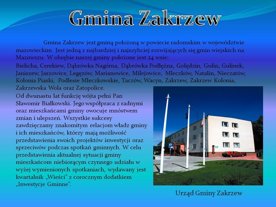 Gmina Zakrzew jest gminą położoną w powiecie radomskim w województwie mazowieckim. Jest jedną z najbardziej i najszybciej rozwijających się gmin wiejs