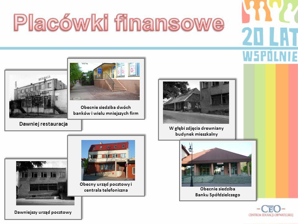 W naszej gminie przez okres 20 lat powstało wiele firm prywatnych zmieniając jej wygląd. Zaniedbany budynek częściowo handlowy Obecnie siedziba ponad