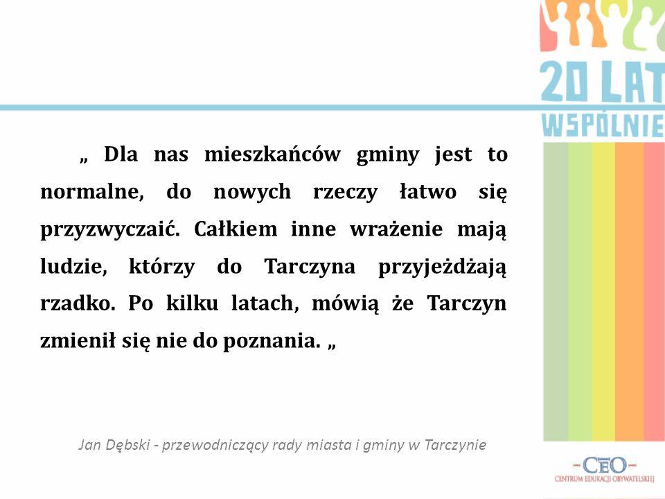 Publiczna Szkoła Podstawowa im. J. Stępkowskiego w Tarczynie 20 lat samorządności obywatelskiej w gminie Tarczyn Samorząd gminny