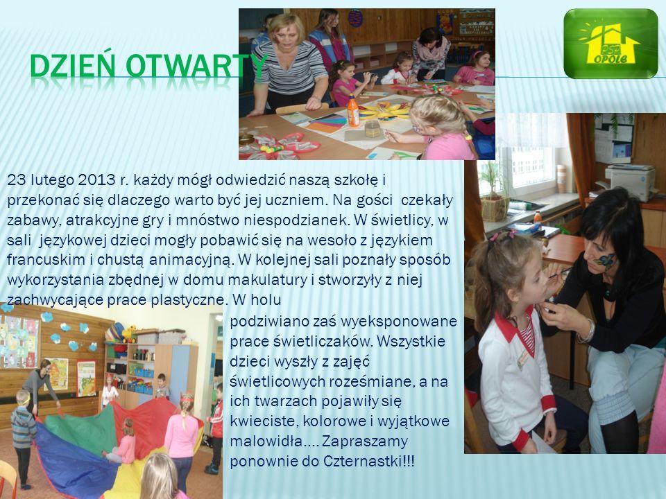 23 lutego 2013 r. każdy mógł odwiedzić naszą szkołę i przekonać się dlaczego warto być jej uczniem. Na gości czekały zabawy, atrakcyjne gry i mnóstwo