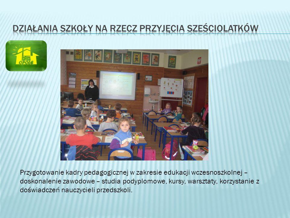 Przygotowanie kadry pedagogicznej w zakresie edukacji wczesnoszkolnej – doskonalenie zawodowe – studia podyplomowe, kursy, warsztaty, korzystanie z do