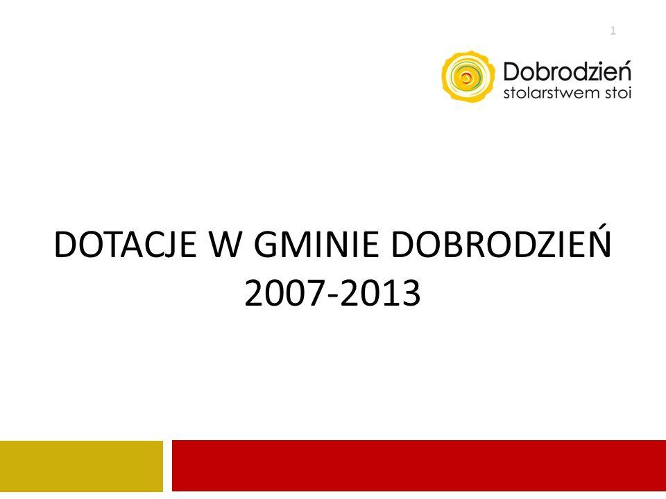 DOTACJE W GMINIE DOBRODZIEŃ 2007-2013 1