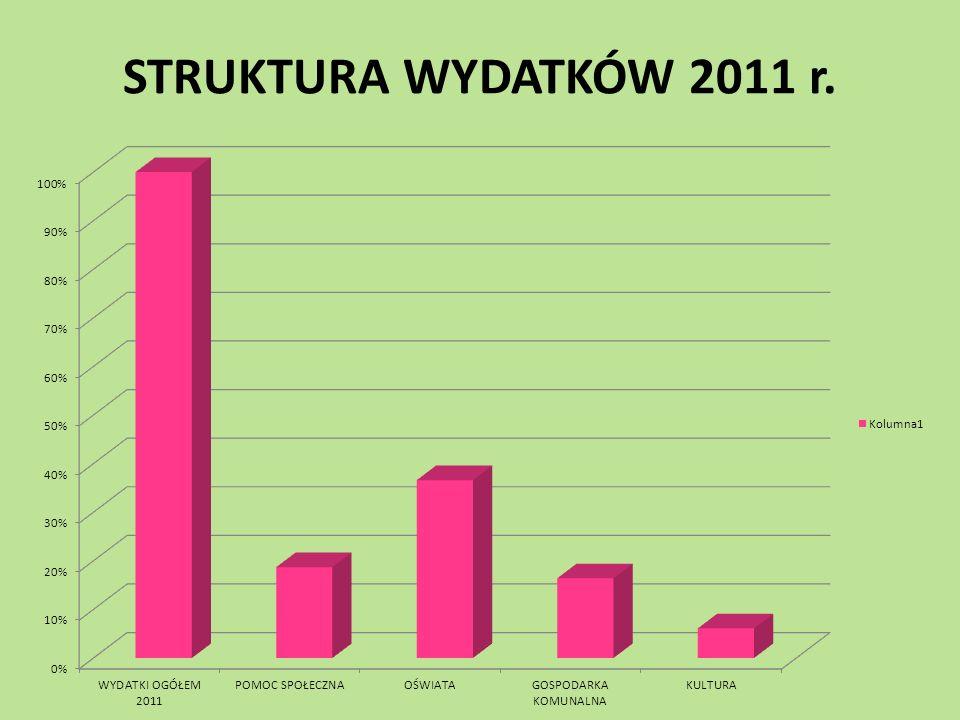 STRUKTURA WYDATKÓW 2011 r.