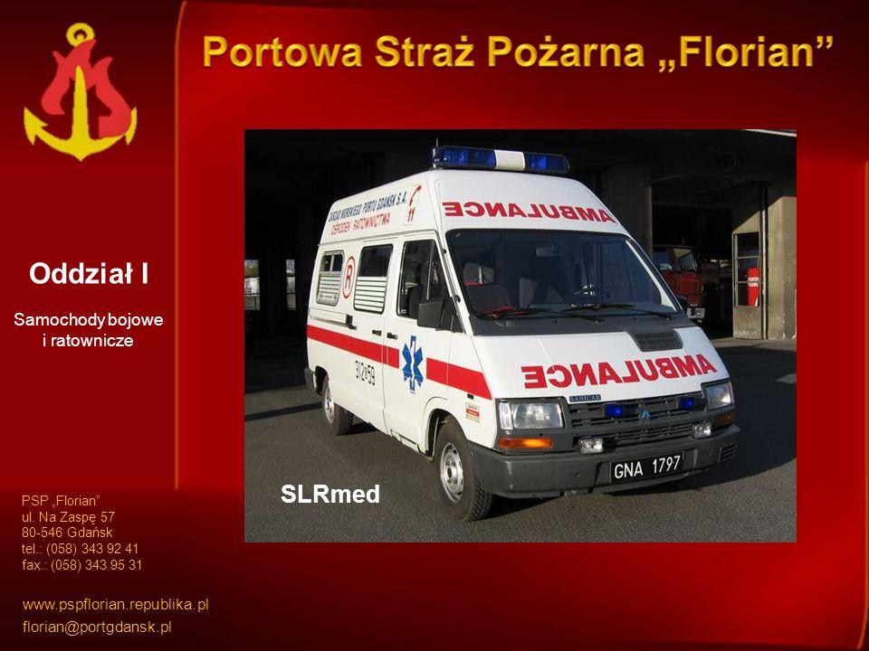 Oddział I GBA 1,6/16/35 GBA 2/16SD 37SRTGCBAPr 9/48/500 Samochody bojowe i ratownicze SLRmed PSP Florian ul.