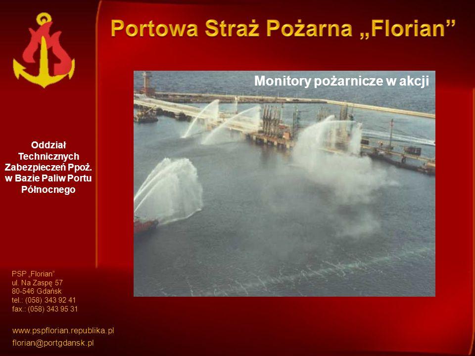 Oddział Technicznych Zabezpieczeń Ppoż.w Bazie Paliw Portu Północnego Monitory Dyspozytornia ppoż.