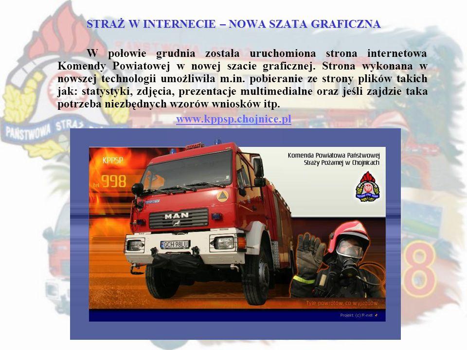 STRAŻ W INTERNECIE – NOWA SZATA GRAFICZNA W połowie grudnia została uruchomiona strona internetowa Komendy Powiatowej w nowej szacie graficznej. Stron