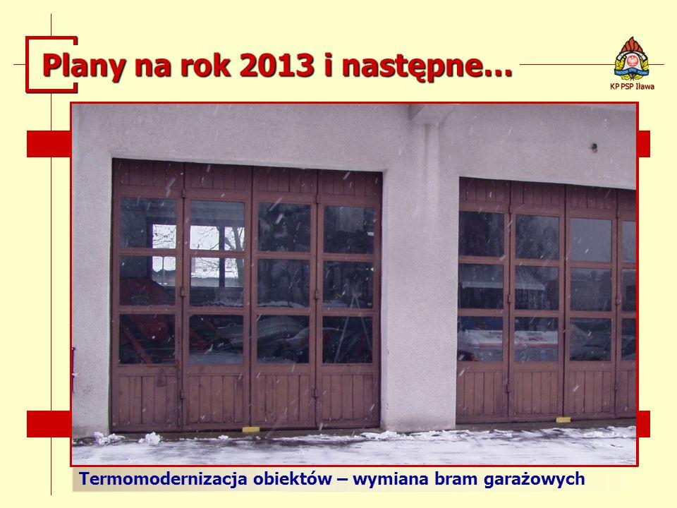 Termomodernizacja obiektów – wymiana bram garażowych KP PSP Iława Plany na rok 2013 i następne…