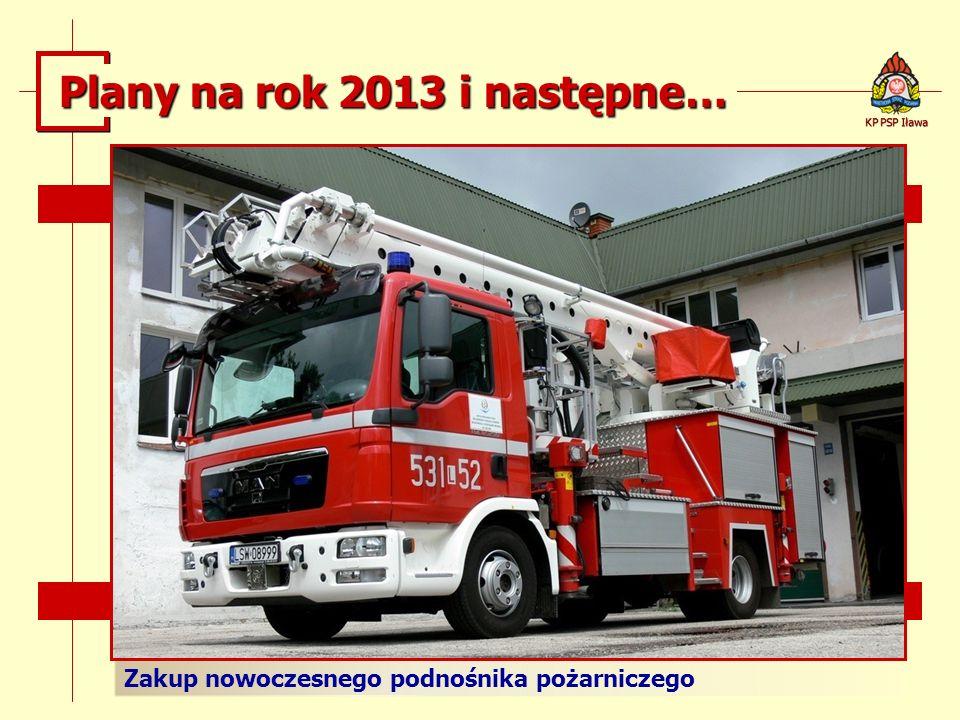 Zakup nowoczesnego podnośnika pożarniczego KP PSP Iława Plany na rok 2013 i następne…