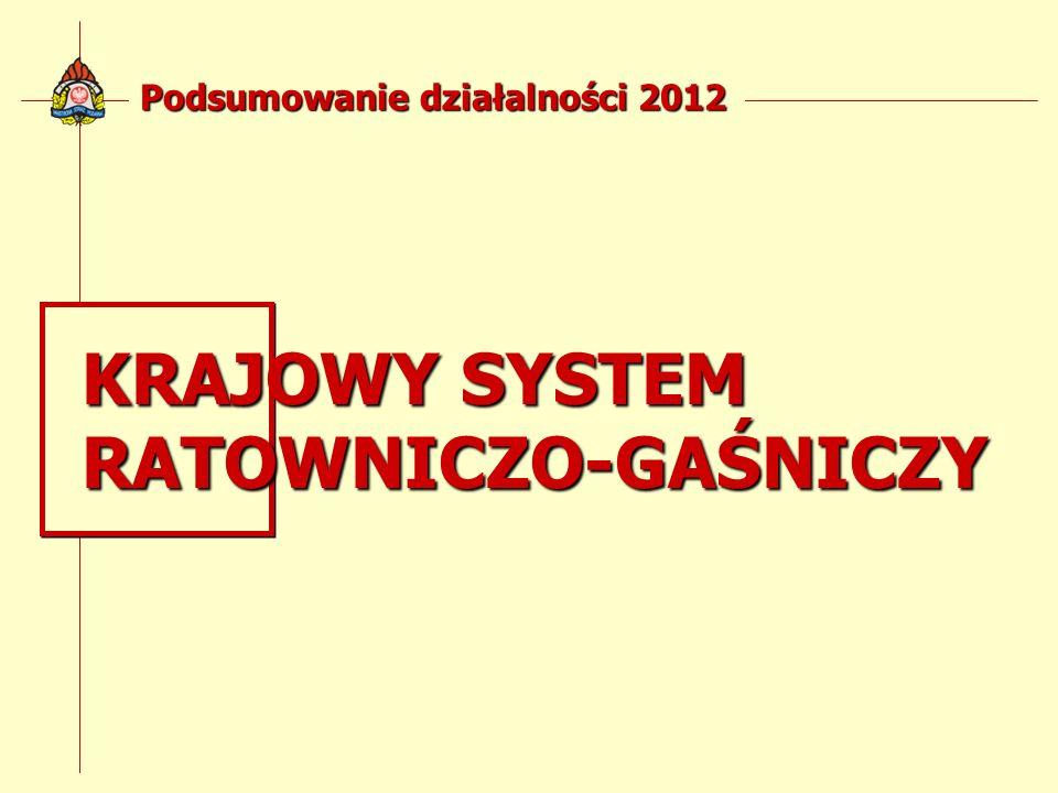 Podsumowanie działalności 2012 KRAJOWY SYSTEM RATOWNICZO-GAŚNICZY