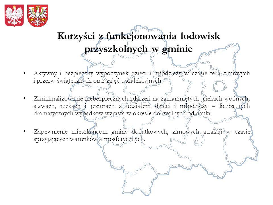 Korzyści z funkcjonowania lodowisk przyszkolnych w gminie Aktywny i bezpieczny wypoczynek dzieci i młodzieży w czasie ferii zimowych i przerw świątecz