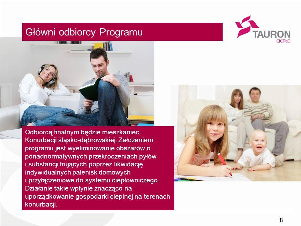 Ciepło w każdym wnętrzu Odbiorcą finalnym będzie mieszkaniec Konurbacji śląsko-dąbrowskiej. Założeniem programu jest wyeliminowanie obszarów o ponadno