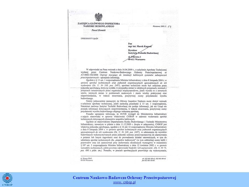 Centrum Naukowo-Badawcze Ochrony Przeciwpożarowej www. cnbop.pl