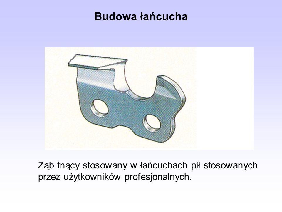 Ząb tnący stosowany w łańcuchach pił stosowanych przez użytkowników profesjonalnych. Budowa łańcucha